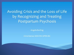 Avoiding Crisis and the Loss of Life PSI conference 2016