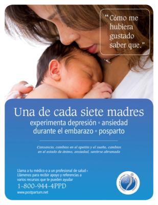 PSI Moms poster in Spanish